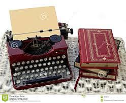 Utilizaba los libros y la maquina de escribir en conjunto para alcanzar un aprendizaje para la vida.