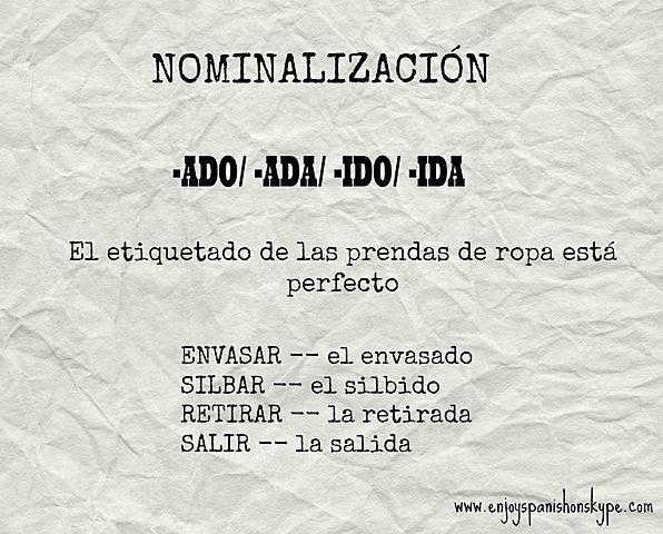Nominalización (teoría del generativismo)