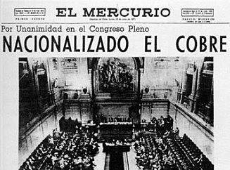 Chilenización del cobre 1966