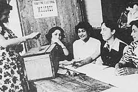 Voto femenino municipal 1934