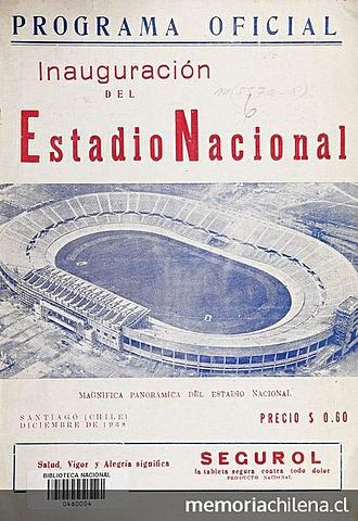 Inauguración Estadio nacional 1938