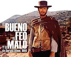 """streno de la película """"El bueno, el feo y el malo"""" y Ennio Marricone."""