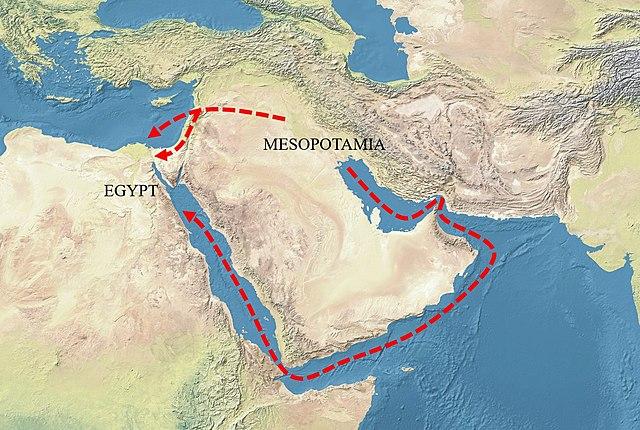 Contacte amb la cultura d'Egipte i Mesopotàmia.
