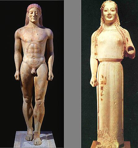 Inici de l'escultura arcaica.
