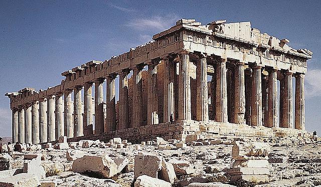 Construcció del Partenó.