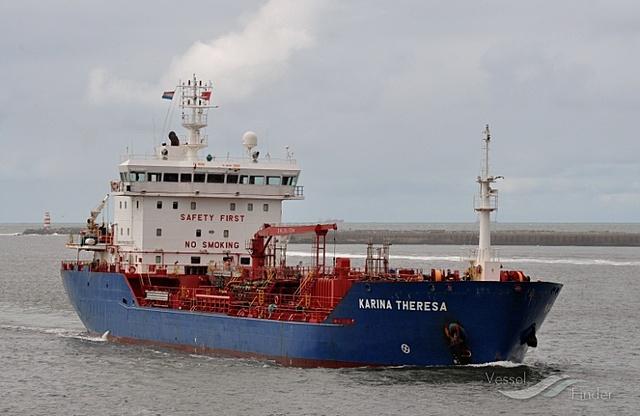 El hundimiento el barco Karina