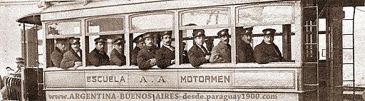 La escuela de Motormen de la Anglo Argentina