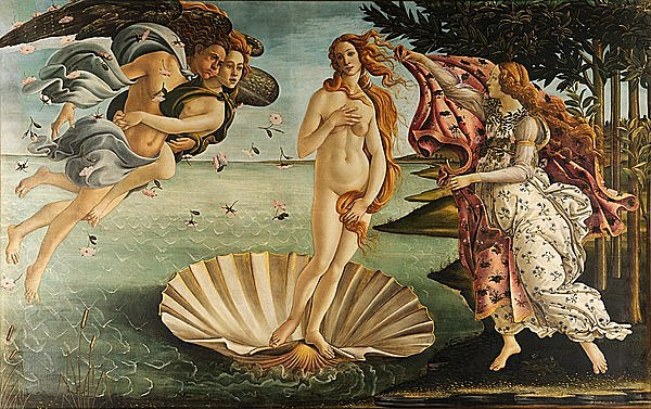 Pintura en el Quattrocento - El nacimiento de Venus (Botticelli)