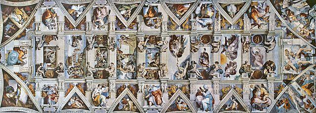 Cinquecento - Bóveda de la Capilla Sixtina - Michelangelo Buonarroti (Pintura)