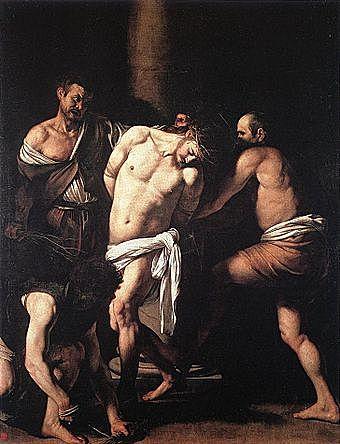 Pintura en el Barroco - La flagelación de Cristo - Caravaggio