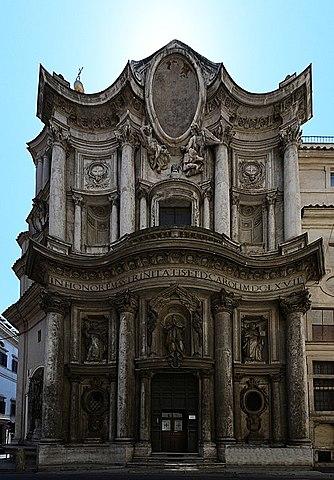 Arquitectura en el Barroco - Iglesia de San Carlo alle Quattro Fontane - Francesco Borromini