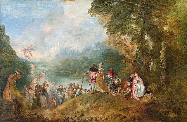 De camino al rococó - Peregrinación a la isla de Citera de Jean-Antoine Watteau