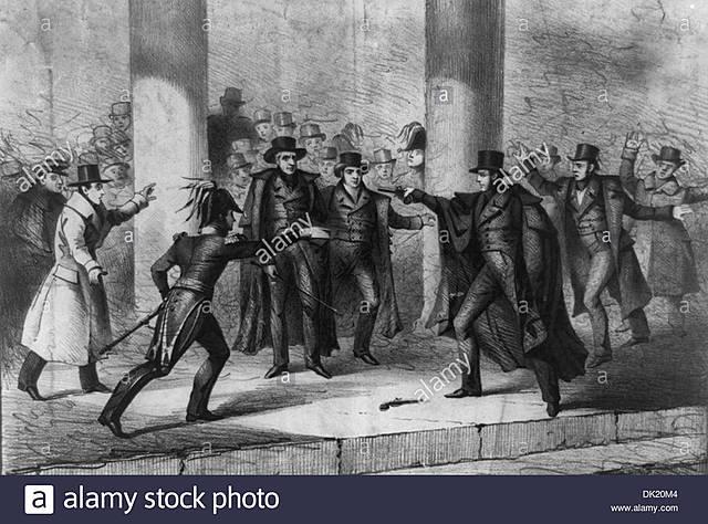 Intento de asesinato al presidente Andrew Jackson.