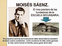 Se decretó la formación de la dirección general de escuelas secundarias a cargo del maestro Moisés Sáenz.