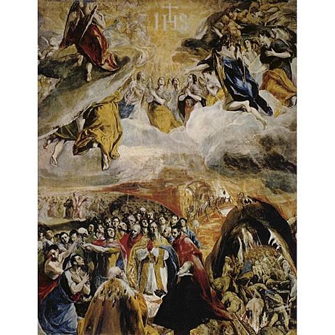 Manierismo - Adoración del nombre de Jesús - El greco