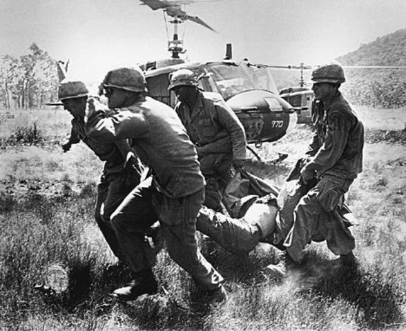 The first U.S combat troops arrive in Vietnam