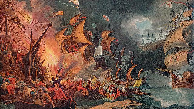 Queen Elizabeth I defeated Philip II's Spanish Armada