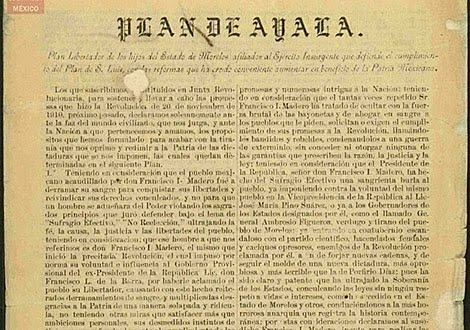 Plan de Ayala de Emiliano Zapata