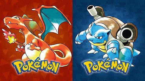Pokemon Azul y Rojo.