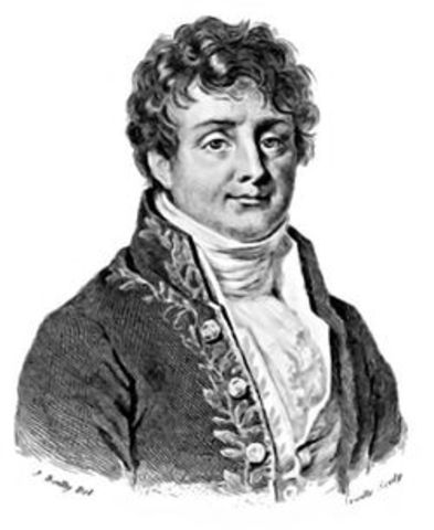Ο Γάλλος φυσικός Ζοζέφ Φουριέ περιγράφει για πρώτη φορά το φαινόμενο του θερμοκηπίου της Γης.