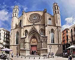 La fecha de inicio de la Catedral de Santa María del Mar de Barcelona