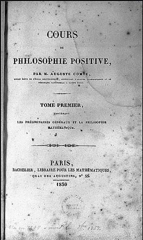 Course of Positive Philosophy (Cours de Philosophie Positive)