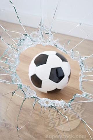 glass broke