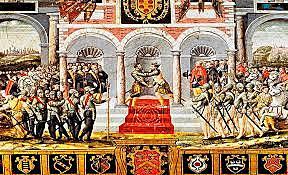 Guerra hispano-francesa, con victorias de España. Paz de Cateau-Cambrésis