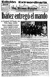 Renuncia de Ibañez