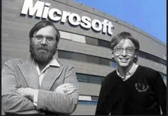Paul Alen y Bill Gates fundan Microsoft