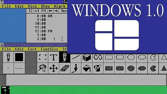 Microsoft presenta el sistema operativo Windows 1.0.E