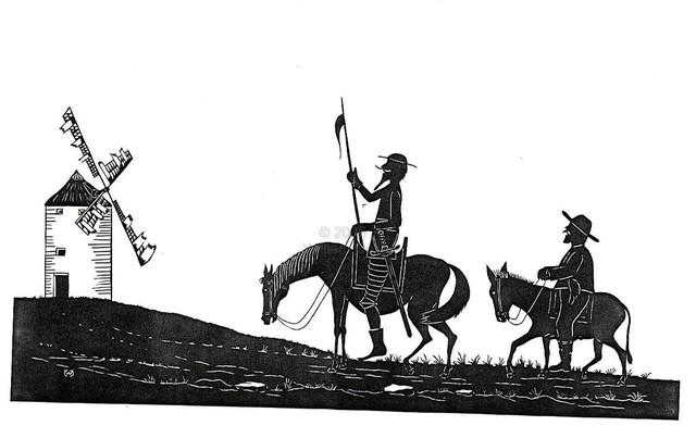 Don Quijote y los Monjes