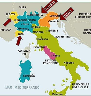 Se anexionaron los Estados Pontificios