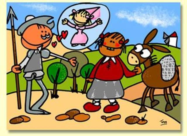 Don Quijote y su pelea por el buen nombre de su amada Dulcinea