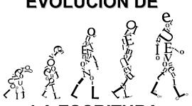 Evolución de la escritura timeline