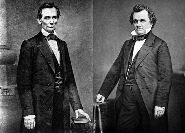 Abraham Lincoln and Stephen A. Douglas Debate