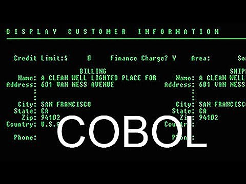 COBOL - LENGUAJE COMÚN ORIENTADO A NEGOCIOS