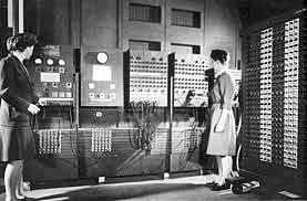 Presentación de ordenador de ENIAC