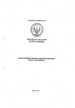 Teacher development and management policy in Rwanda