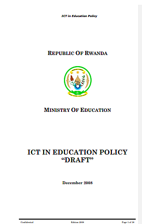 Draft: ICT in education policy