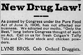 •Pure Food and Drug Act