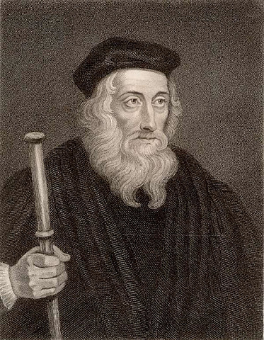 John Wycliffe argued the Bible was the highest religious authority – not the Pope