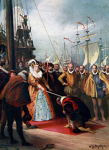 Elizabeth I sponsored Sir Francis Drake's exploration to the New World