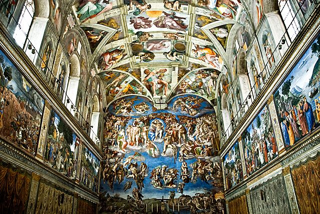 Michelangelo painted the ceiling of the Sistine Chapel