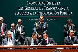 Se promulgó la Ley General de Transparencia y Acceso a la Información Pública