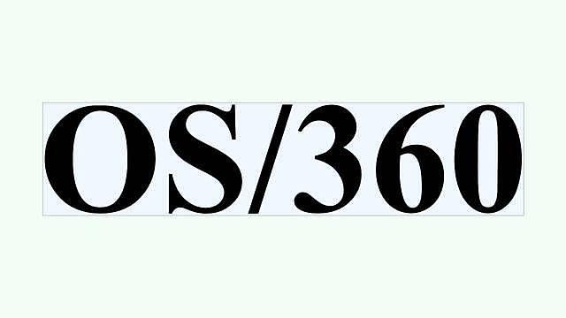 El sistema operativo OS/360