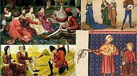 EDAD MEDIA EUROPEA; LITERATURA timeline