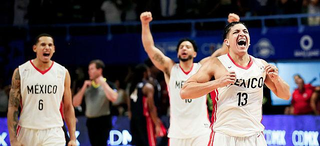 mexico le gana a EUA en un juego clasificatorio para la Copa Mundial de Baloncesto Varonil China 2019.