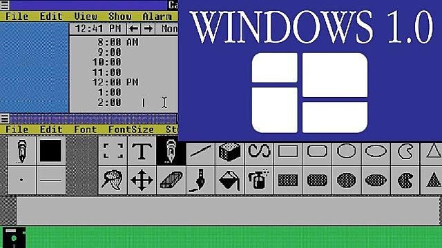 Microsoft lanza al mercado Windows 1.0