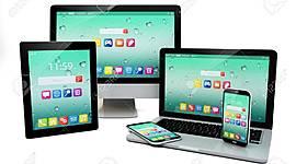 Internet, computadora y dispositivos móviles timeline